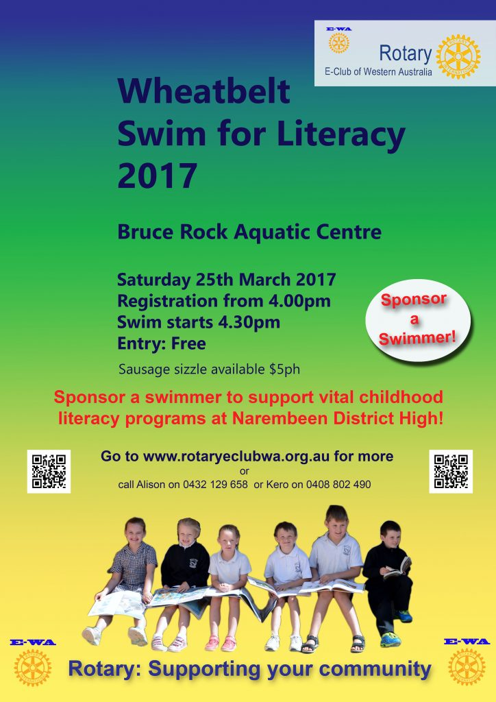 Narembeen poster promoting 25 March 2017 Bruce Rock Swim