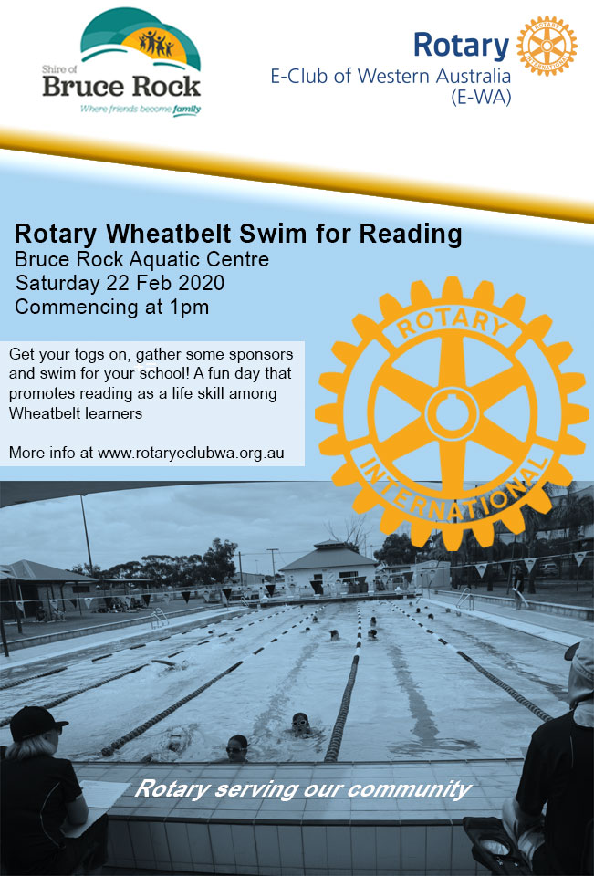 Rotary Wheatbelt Swim for Reading Poster 2020