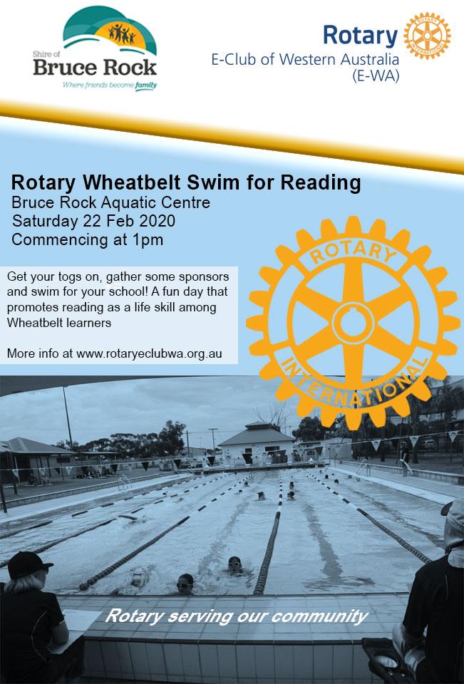 Rotary Wheatbelt Swim for Reading Poster 2020