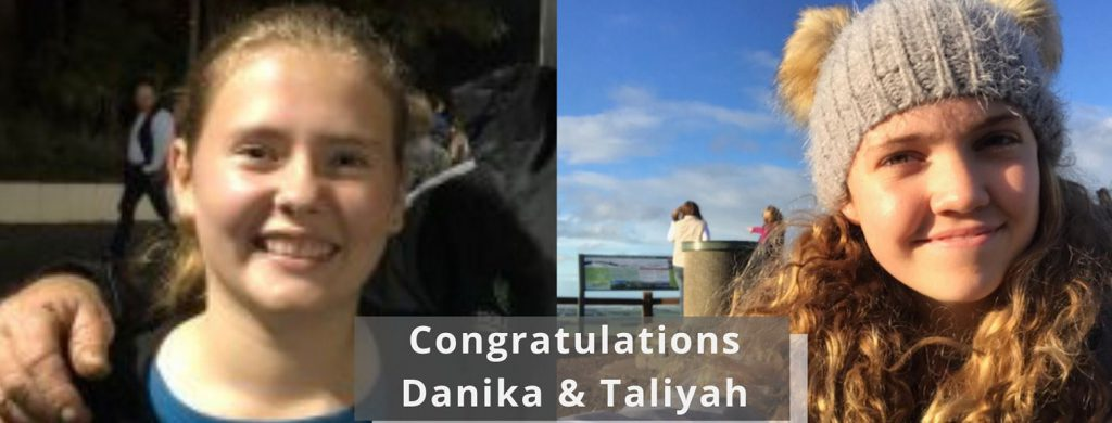 Danika and Taliyah, selected to attend RYPEN in September 2019